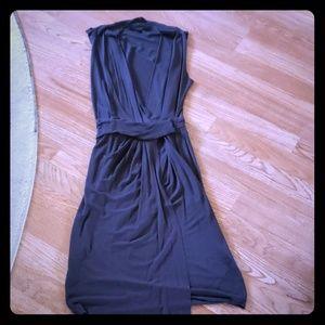 All Saints Charcoal Wrap Dress Size 00
